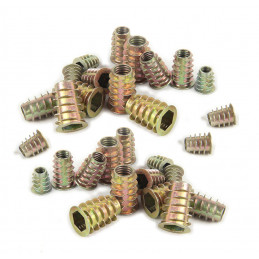 Set of 100 mixed threaded inserts (screw-in nuts, mix set: M4-M10)  - 3
