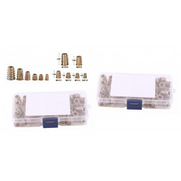 Set of 100 mixed threaded inserts (screw-in nuts, mix set: M4-M10)  - 2
