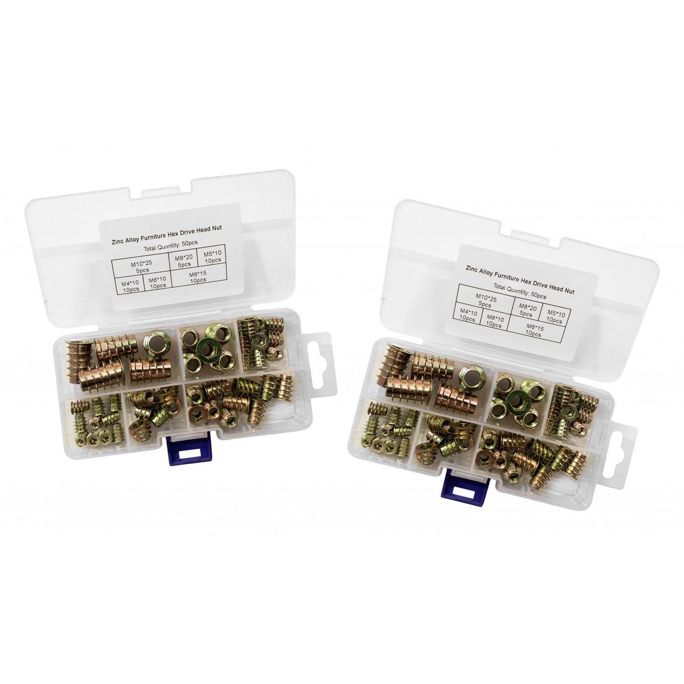 Set van 100 gemixte rampamoeren (inschroefmoeren, M4-M10 mm)  - 1