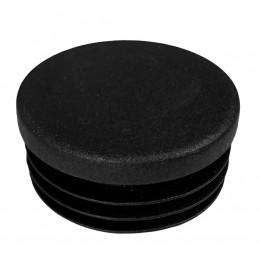 Set of 32 plastic chair leg caps (inside, round, 48 mm, black)