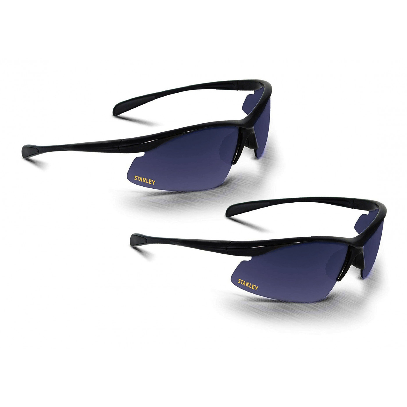 Set of 2 black safety goggles for protection during DIY jobs
