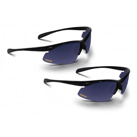 Lot de 2 lunettes de sécurité noires pour la protection lors