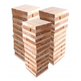 Conjunto de 180 blocos / varas de madeira (7x2,3x1 cm)  - 1