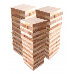 Lot de 180 blocs / bâtons en bois (7x2,3x1 cm)