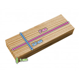 Set of 180 wooden blocks/sticks (7x2.3x1 cm)  - 2