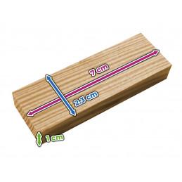 Zestaw 180 drewnianych klocków / patyków (7x2,3x1 cm)  - 2