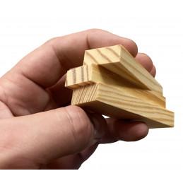 Zestaw 180 drewnianych klocków / patyków (7x2,3x1 cm)  - 3
