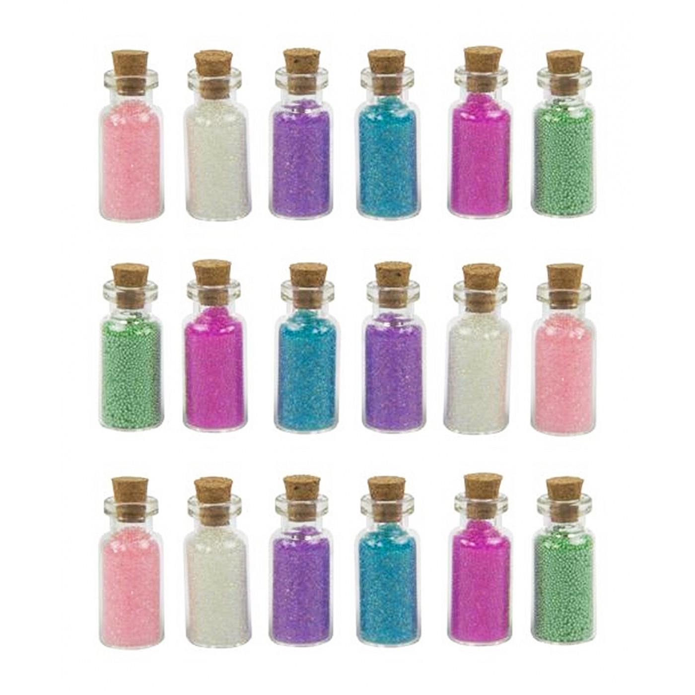 Lot de 18 mini bouteilles avec sable déco (type 2)