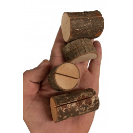 Set van 20 leuke boomstronk kaarthouders (type 3)