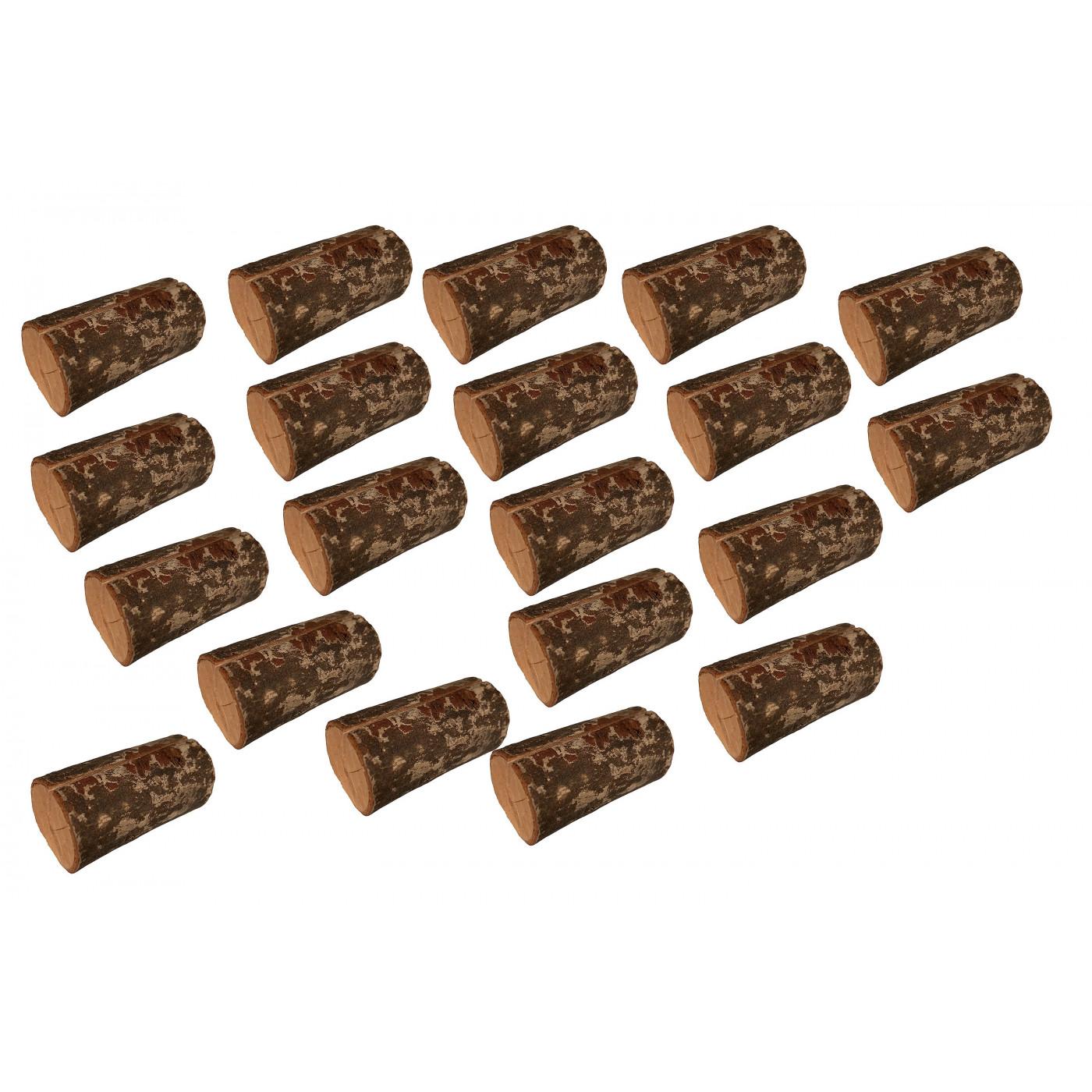 Set of 20 nice tree stump card holders (type 3)