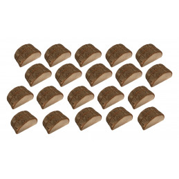 Conjunto de 20 porta-cartões de toco de árvore (tipo 1)  - 1