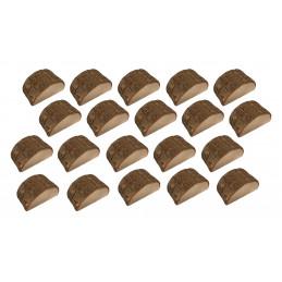 Juego de 20 bonitos tarjeteros de tocón de árbol (tipo 1)  - 1