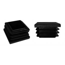 Jeu de 32 couvre-pieds de chaise en plastique (intérieur, carré, 25x25 mm, noir) [I-SQ-25x25-B]  - 1