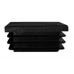 Set of 32 plastic chair leg caps (inside, rectangle, 20x40 mm, black) [I-RA-20x40-B]  - 2