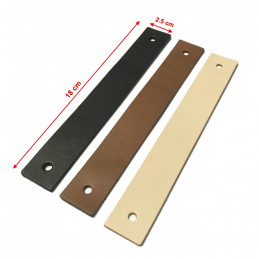 Set of 4 leather handles, loops, for furniture, black