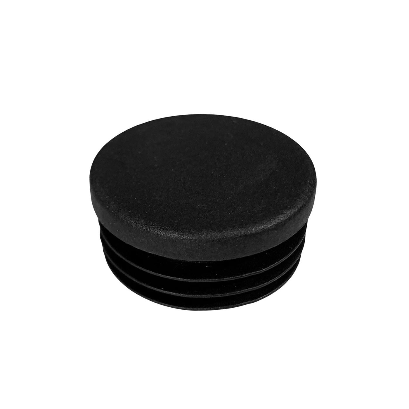 Set of 32 plastic chair leg caps (inside, round, 25 mm, black)