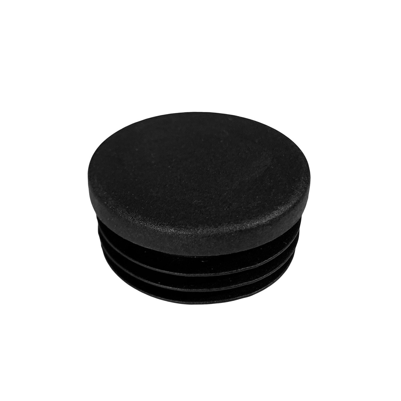 Set of 32 plastic chair leg caps (inside, round, 35 mm, black) [I-RO-35-B]  - 1