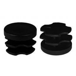 Jeu de 32 couvre-pieds de chaise en plastique (intérieur, rond, 19 mm, noir) [I-RO-19-B]  - 1