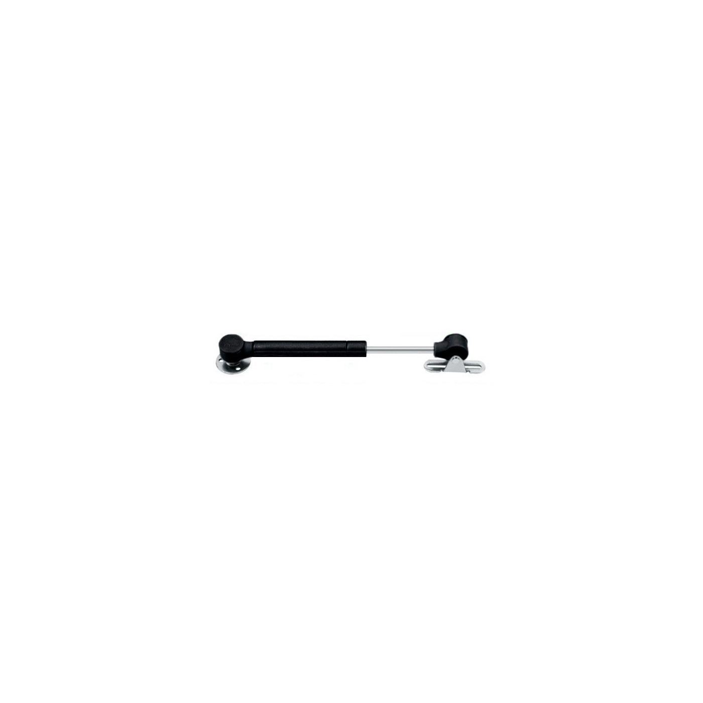 Universal gas spring with brackets (50N/5kg, 172 mm, black)