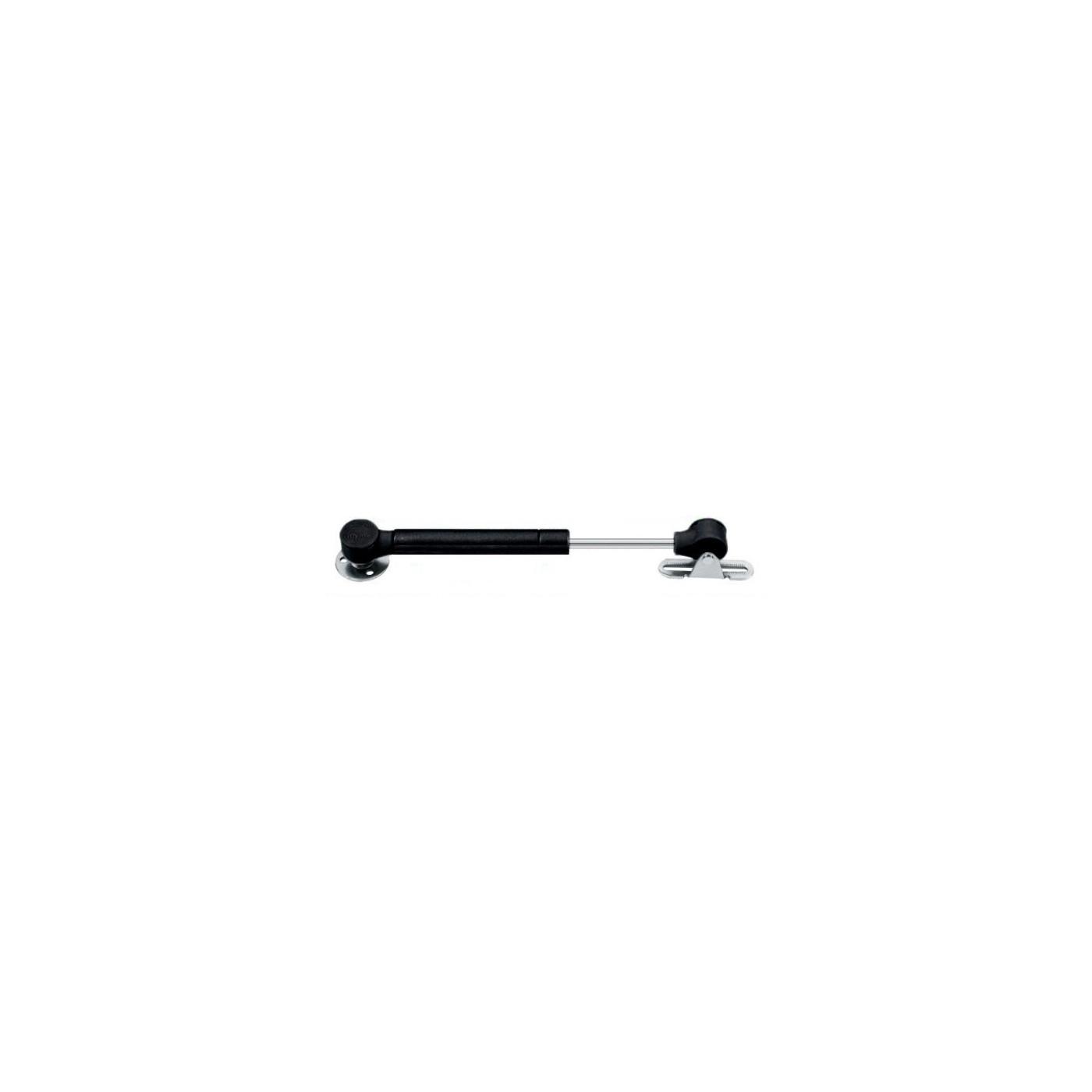 Vérin à gaz universel avec supports (50N / 5kg, 172 mm, noir)