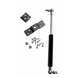 Resorte de gas universal con soportes (300N / 30 kg, 263 mm, negro)  - 1