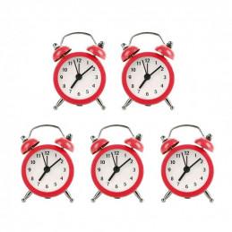 Conjunto de 5 divertidos despertadores pequeños (rojo, batería)  - 1