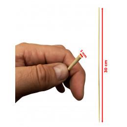 Lot de 1000 bâtons de bambou (3 mm x 30 cm)  - 2