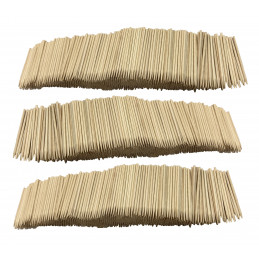Set of 3000 wooden sticks (2.5 mm x 7 cm)