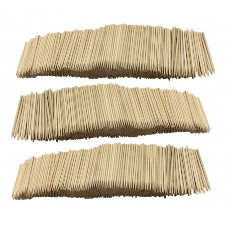 Lot de 3000 bâtonnets en bois (2,5 mm x 7 cm)  - 1