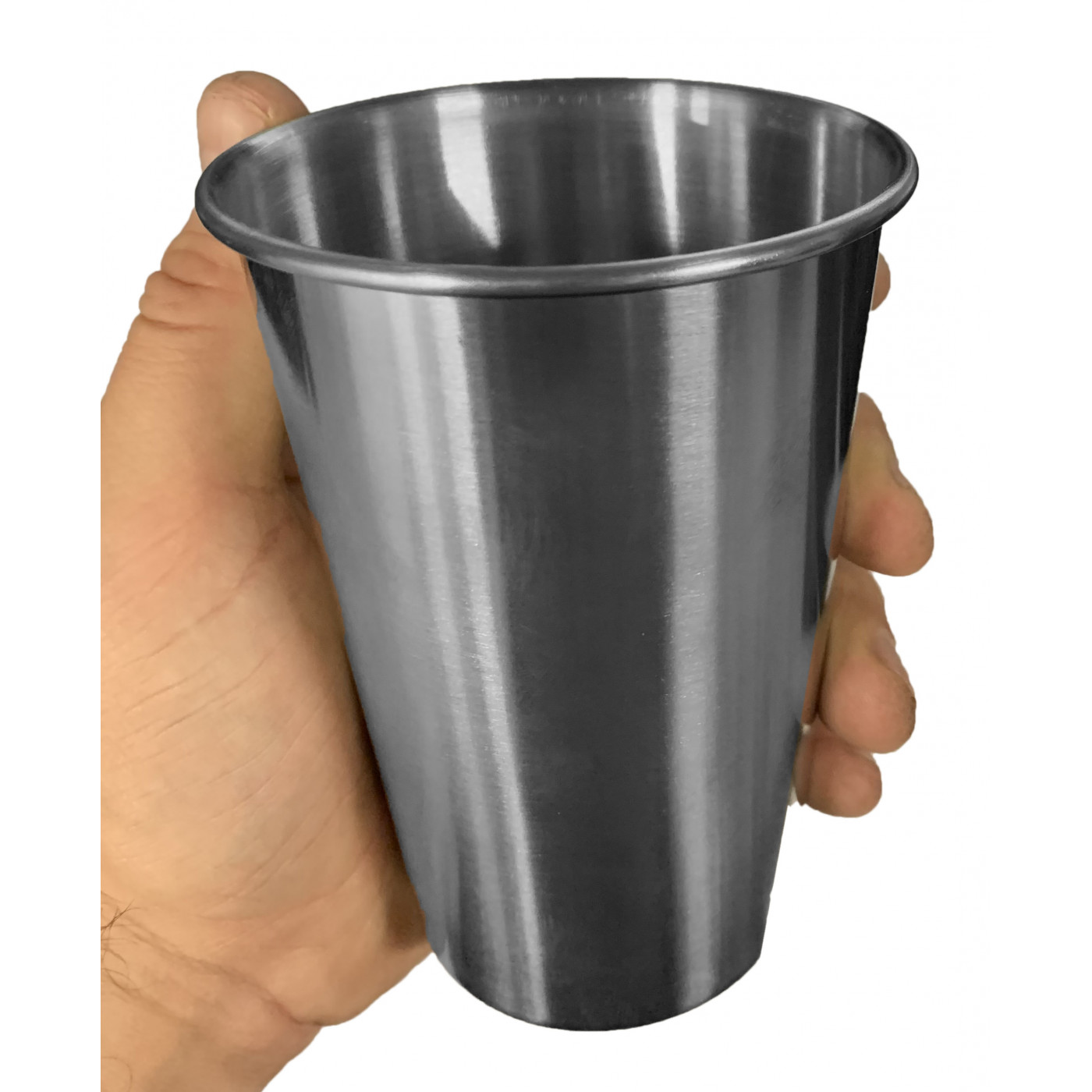 Set of 6 stainless steel (wine)cups, 500 ml