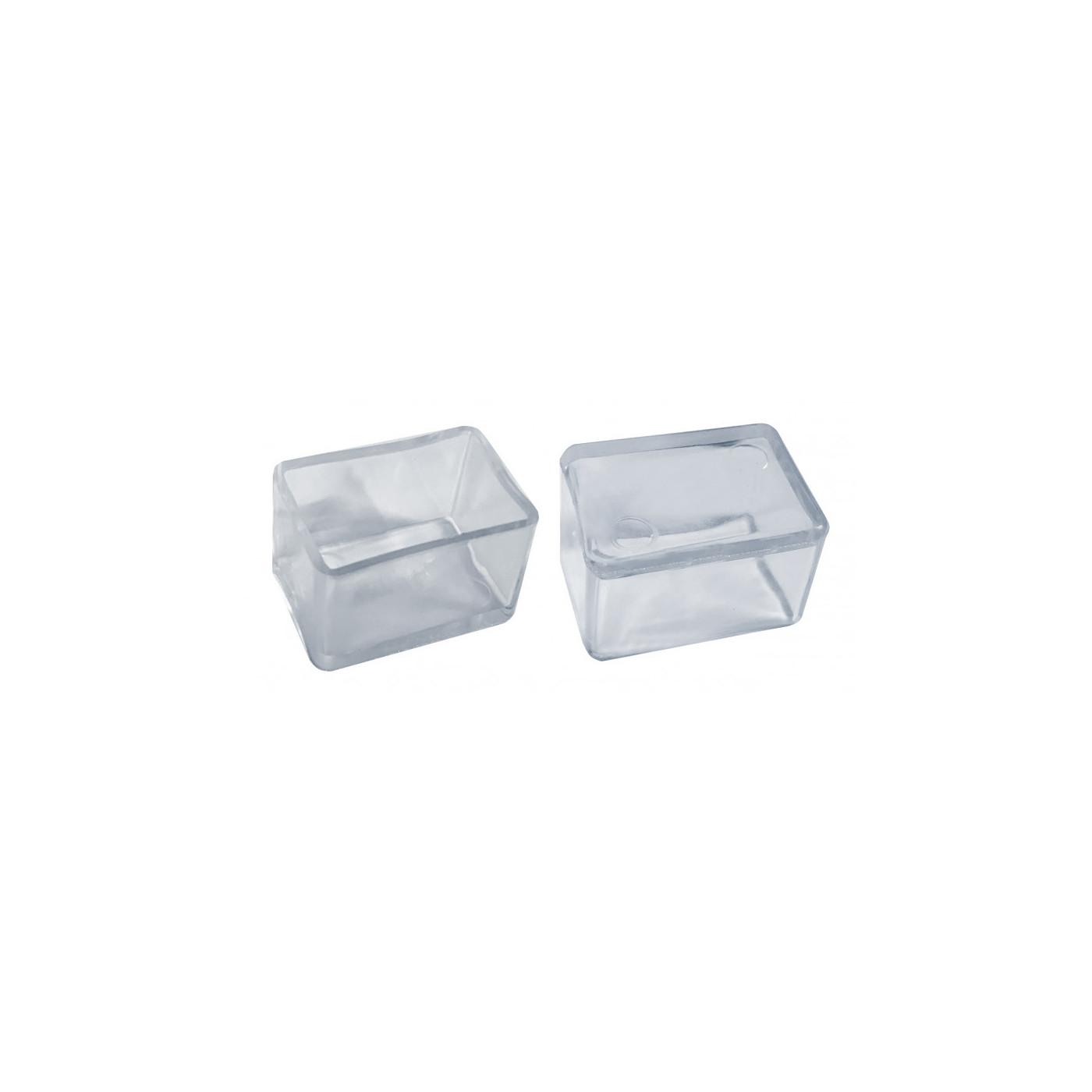 Set von 32 silikonkappen (Außenkappe, Rechteck, 30x50 mm, transparent) [O-RA-30x50-T]  - 1