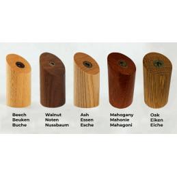 Lot de 6 patères en bois, bois de frêne