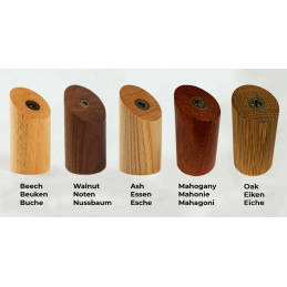 Set of 6 wooden clothes hooks, ash wood
