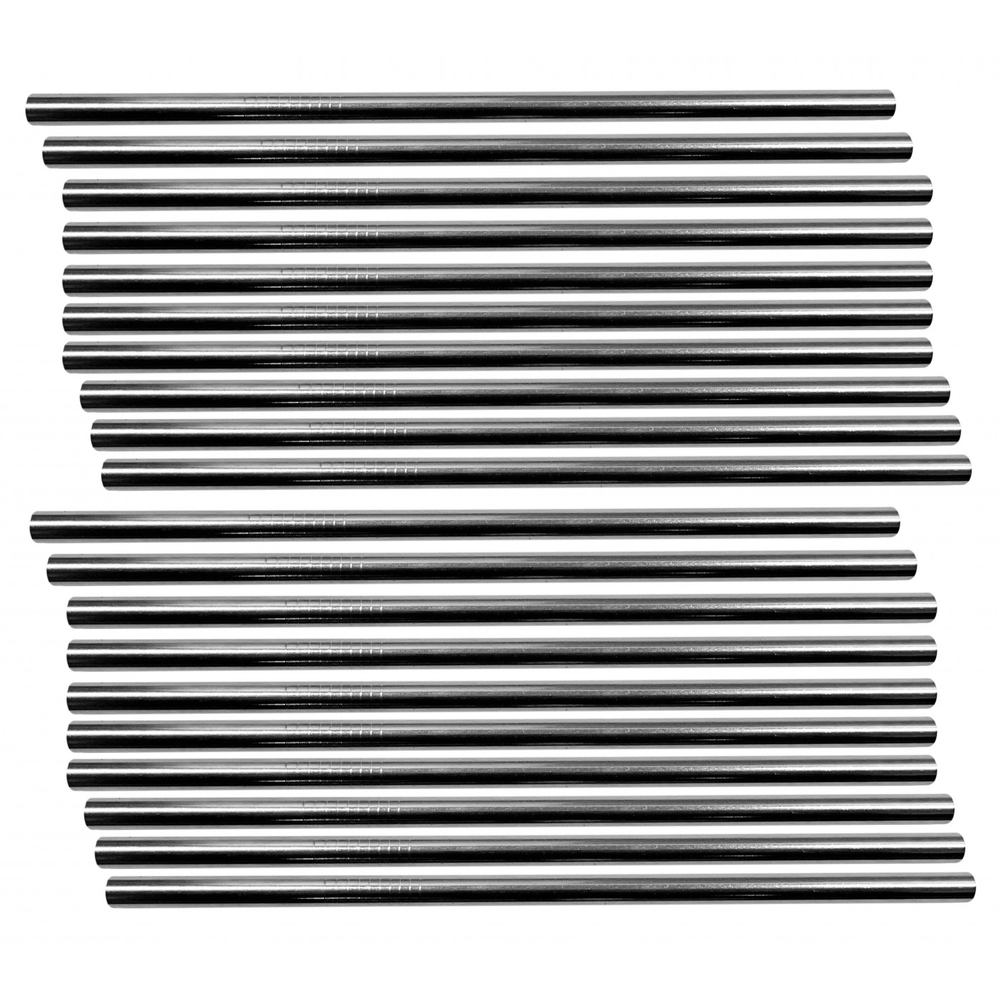 Set of 20 stainless steel pipes/straws (8 mm diameter)  - 1