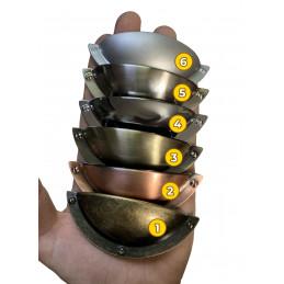 Zestaw 6 metalowych uchwytów do szafek i szuflad (kolor 3: błyszczący antyk)  - 3