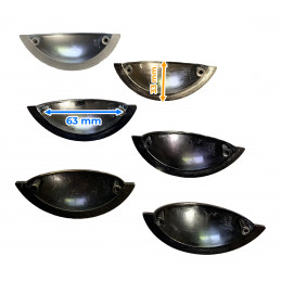 Lot de 6 poignées métalliques pour armoires et tiroirs (couleur