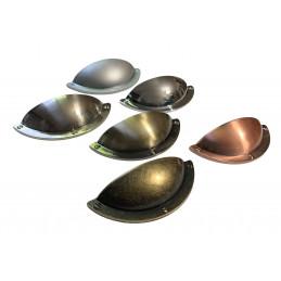 Conjunto de 6 puxadores de metal para armários e gavetas (cor 5: níquel escovado)  - 1