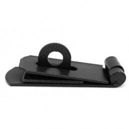 Chiusura per petto / porta, set serratura, in acciaio, 14x5 cm