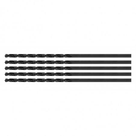 Set of 5 metal drill bits (HSS, 3.2x100 mm)