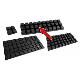 Set von 100 Türpuffern (20x20x14 mm, schwarz, trapezförmig)