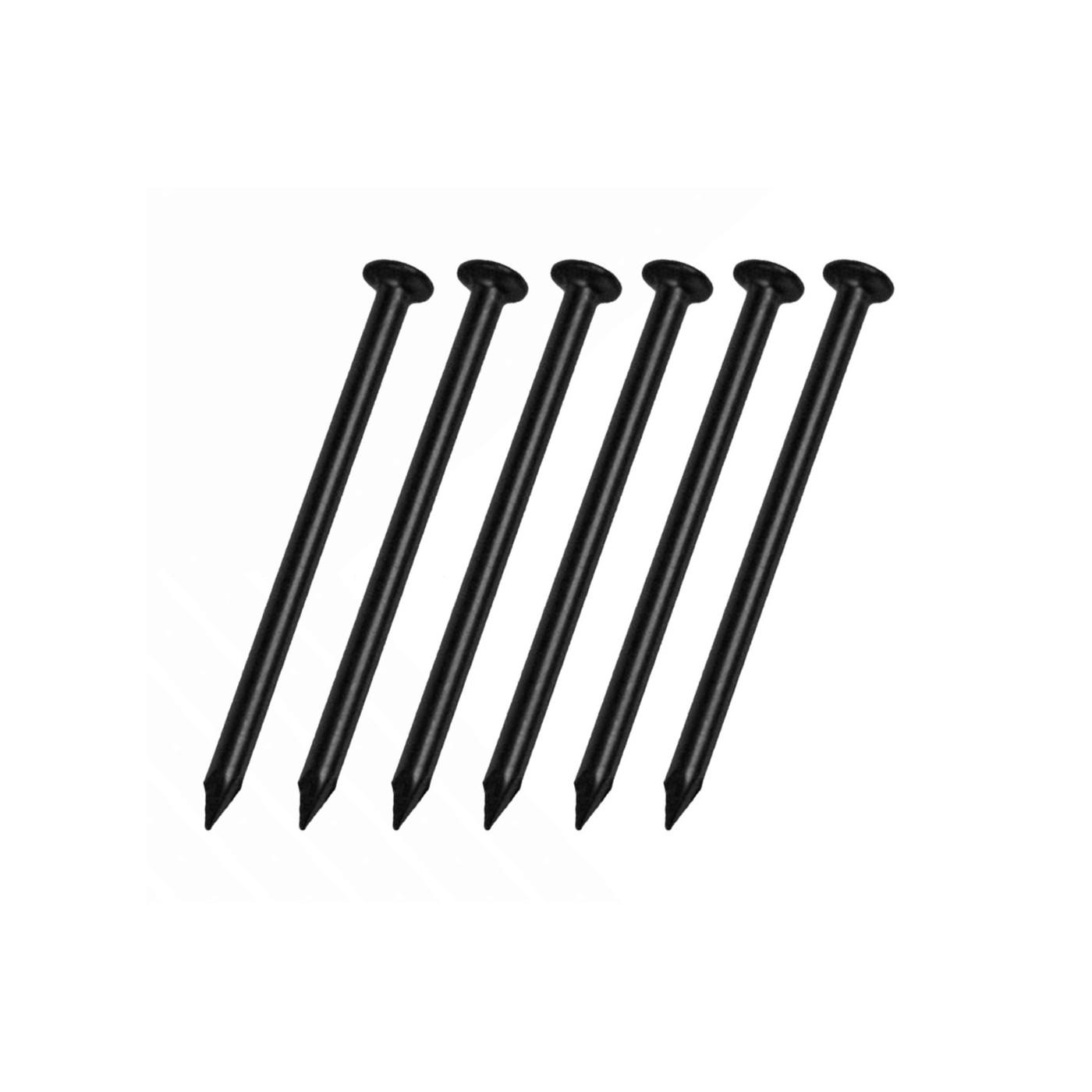 Jeu de 325 clous en acier (2,0x30 mm, noir)