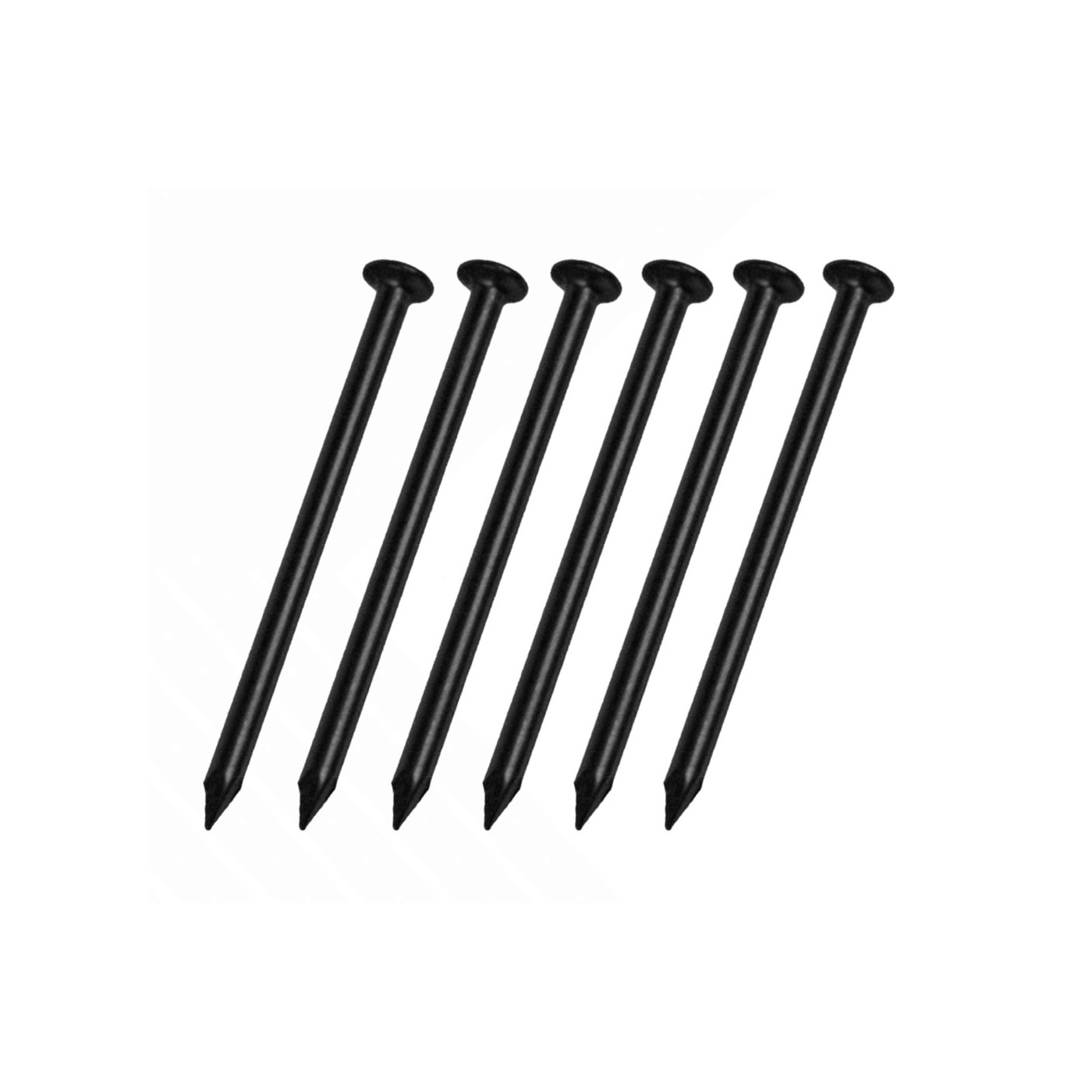 Set of 260 steel nails (2.0x40 mm, black)