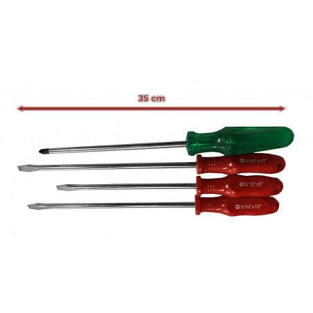Set van 4 XXL magnetische schroevendraaiers (mixset)