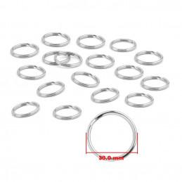 Set of 180 key rings (30 mm, nickel plated)