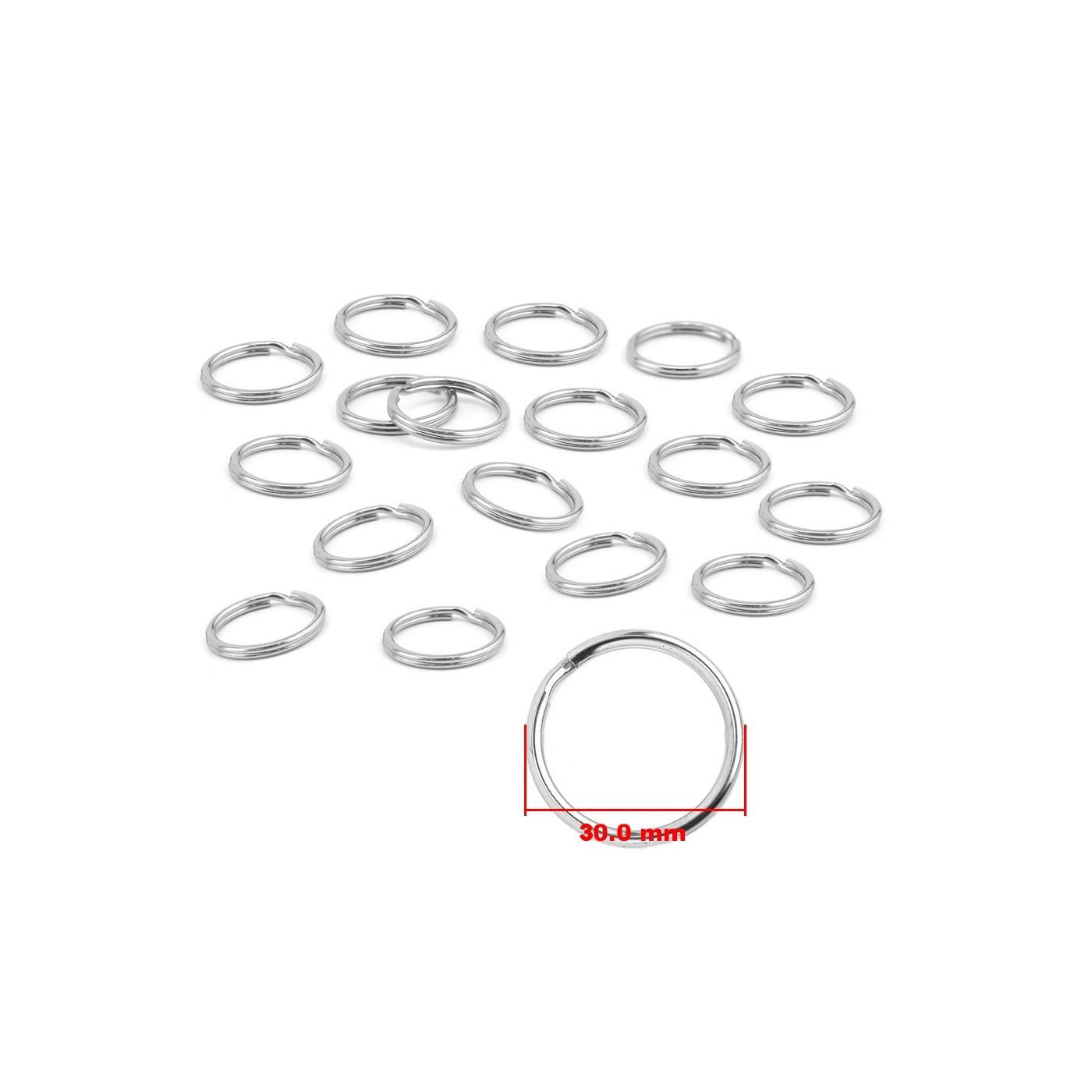 Set van 180 metalen sleutelringen voor sleutelhangers (30 mm