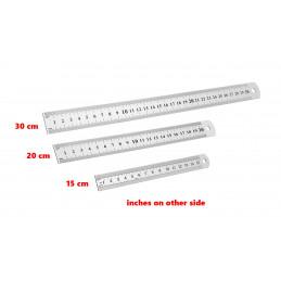 Metalllineal (20 cm, doppelseitig: cm und Zoll)