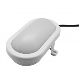 Bullseye lampada per esterni (220v, a prova di schizzi, bianca)