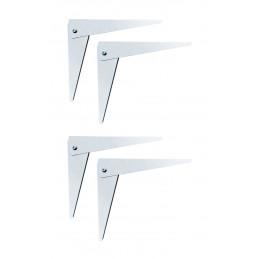 Lot de 4 supports d'étagère pliables (taille 1:20 cm)