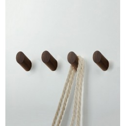 Wooden clothes hook, walnut...