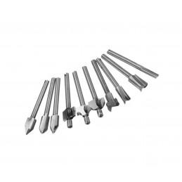 Zestaw mini (dremel) frezów 3.175 mm (10 szt.)  - 1